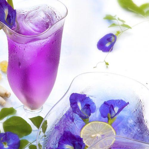 Blue Pea Flower Lemonade