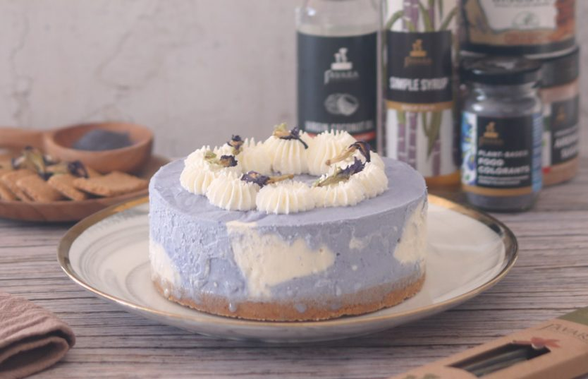 no bake blue cheesecake